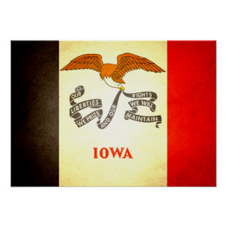 Sun kissed Iowa Flag Posters