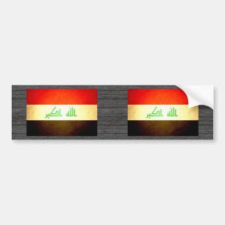 Sun kissed Iraq Flag Bumper Sticker