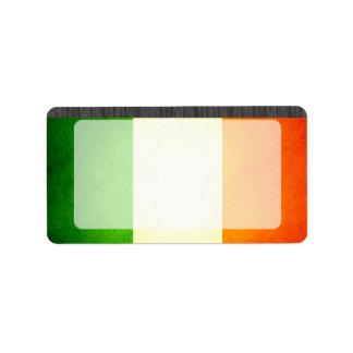 Sun kissed Ireland Flag Label