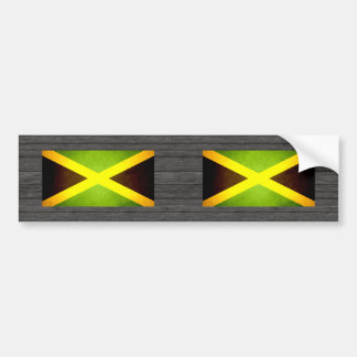 Sun kissed Jamaica Flag Car Bumper Sticker