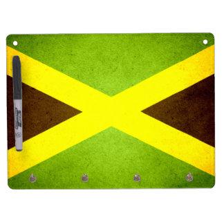 Sun kissed Jamaica Flag Dry Erase Board