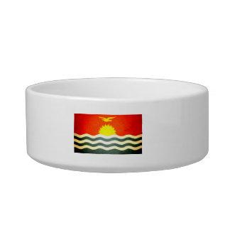 Sun kissed Kiribati Flag Cat Food Bowl