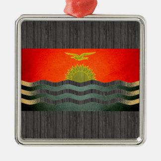 Sun kissed Kiribati Flag Christmas Ornament