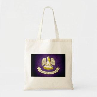 Sun kissed Louisiana Flag Canvas Bag