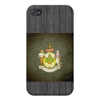 Sun kissed Maine Flag iPhone 4 Cover