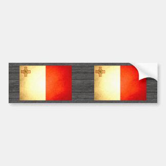 Sun kissed Malta Flag Bumper Stickers