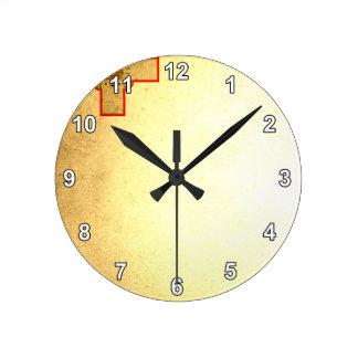 Sun kissed Malta Flag Round Clock