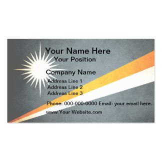Sun kissed Marshall Islands Flag Double-Sided Standard Business Cards (Pack Of 100)