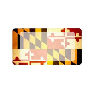 Sun kissed Maryland Flag Label