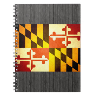 Sun kissed Maryland Flag Notebook