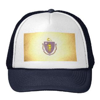 Sun kissed Massachusetts Flag Trucker Hats