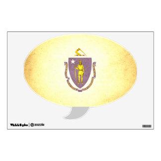Sun kissed Massachusetts Flag Wall Graphics