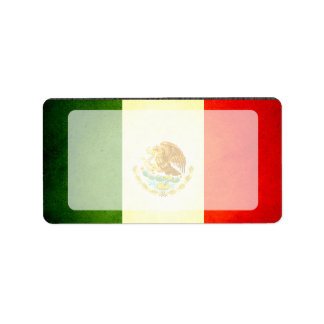 Sun kissed Mexico Flag Label