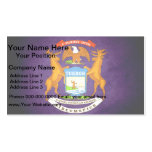 Sun kissed Michigan Flag Business Cards