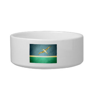 Sun kissed Midway Islands Flag Cat Food Bowl