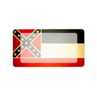 Sun kissed Mississippi Flag Label