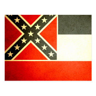 Sun kissed Mississippi Flag Postcard