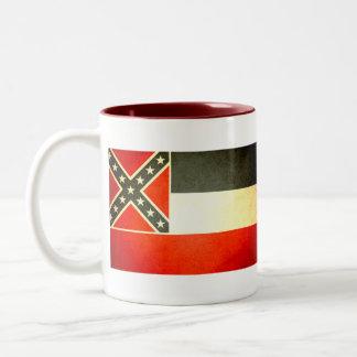 Sun kissed Mississippi Flag Two-Tone Coffee Mug