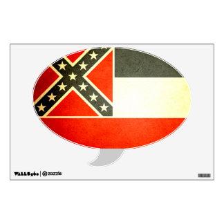 Sun kissed Mississippi Flag Wall Sticker