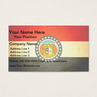 Sun kissed Missouri Flag Business Card