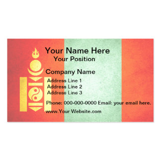Sun kissed Mongolia Flag Double-Sided Standard Business Cards (Pack Of 100)