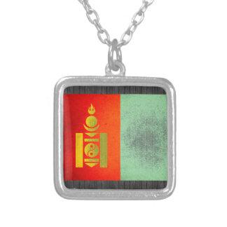 Sun kissed Mongolia Flag Necklace