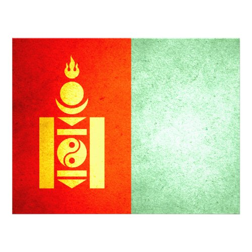 Sun kissed Mongolia Flag Personalized Flyer