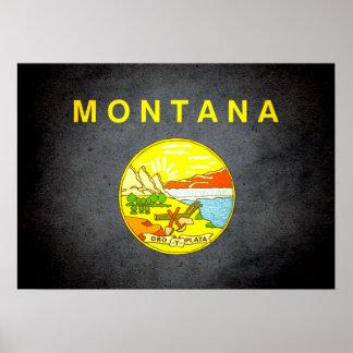 Sun kissed Montana Flag Print