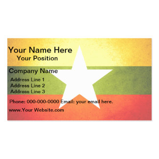 Sun kissed Myanmar Flag Double-Sided Standard Business Cards (Pack Of 100)