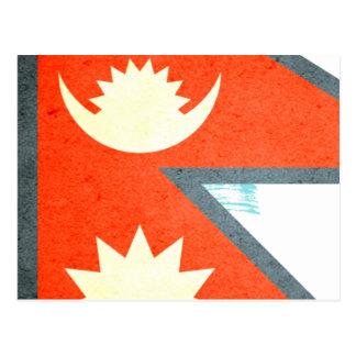 Sun kissed Nepal Flag Postcard