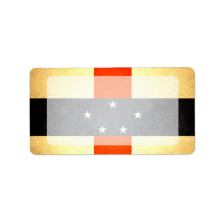 Sun kissed Netherlands Antilles Flag Label
