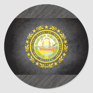 Sun kissed New Hampshire Flag Classic Round Sticker