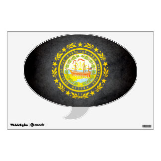 Sun kissed New Hampshire Flag Wall Sticker