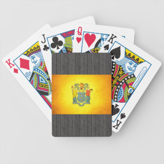 Sun kissed New Jersey Flag Bicycle Playing Cards