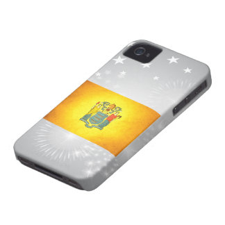 Sun kissed New Jersey Flag iPhone 4 Case-Mate Cases