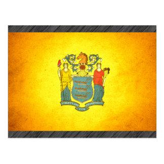 Sun kissed New Jersey Flag Postcard