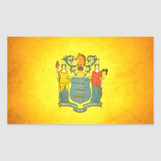 Sun kissed New Jersey Flag Rectangular Sticker