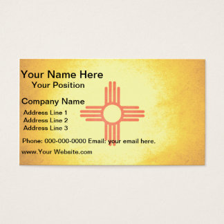 Sun kissed New Mexico Flag Business Card