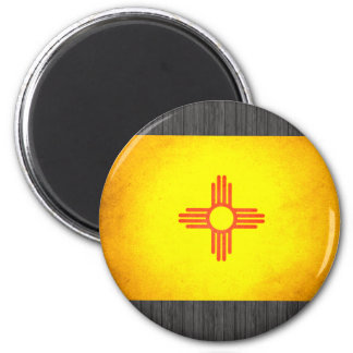 Sun kissed New Mexico Flag Refrigerator Magnets