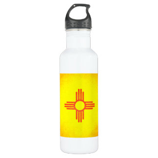 Sun kissed New Mexico Flag Stainless Steel Water Bottle