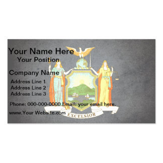 Sun kissed New York Flag Double-Sided Standard Business Cards (Pack Of 100)