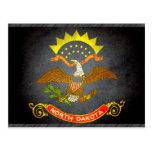Sun kissed North Dakota Flag Post Cards