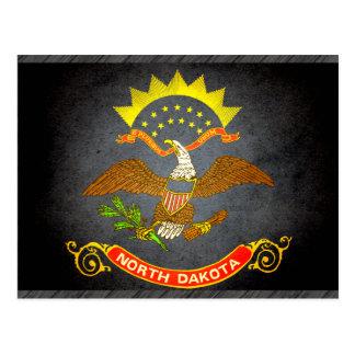 Sun kissed North Dakota Flag Postcard