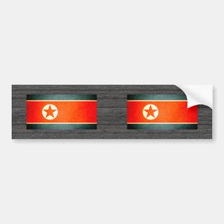 Sun kissed North Korea Flag Bumper Stickers