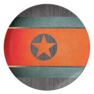 Sun kissed North Korea Flag Party Plates