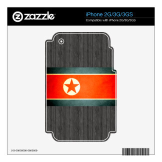 Sun kissed North Korea Flag Decal For iPhone 3G