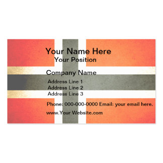 Sun kissed Norway Flag Business Card