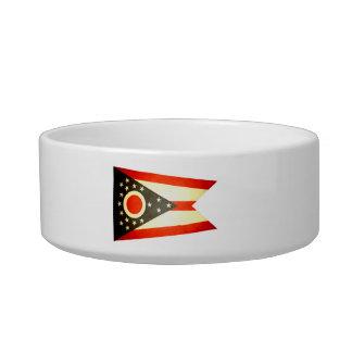 Sun kissed Ohio Flag Cat Food Bowl