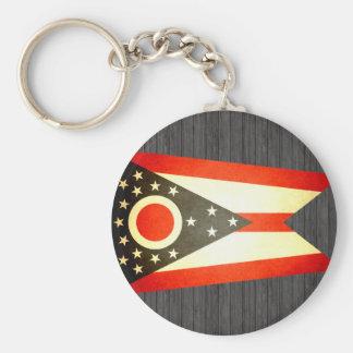Sun kissed Ohio Flag Keychains