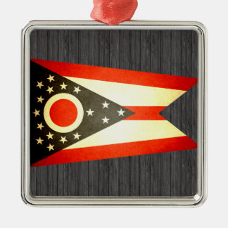 Sun kissed Ohio Flag Ornaments